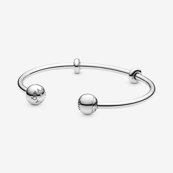 Otwarta bransoletka bangle Pandora Moments